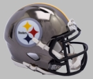 Pittsburgh Steelers - Chrome Alternate Speed Riddell Full Size Deluxe Replica Football Helmet