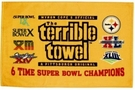 Pittsburgh Steelers Terrible Towel 6X Super Bowl Champions