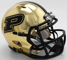 Purdue Boilermakers - Chrome Alternate Speed Riddell Mini Football Helmet
