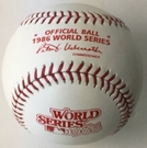 Rawlings Official 1986 World Series Game Baseball - Model Number: WSBB86