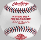 Rawlings Official 2018 MLB All Star Games Baseball - Model Number: ASBB18