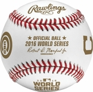 Rawlings Official 2016 World Series Game Baseball - Dueling Baseball with team names
