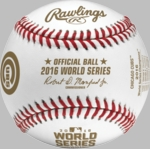 Rawlings Official 2016 World Series Game Baseball - Champs Baseball with Cubs logo and final scores