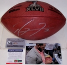 Ray Lewis - Autographed Official Wilson Super Bowl XLVII NFL Football - PSA/DNA