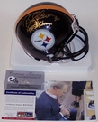 Rocky Bleier - Riddell - Autographed Mini Helmet - Pittsburgh Steelers - PSA/DNA