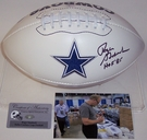 Roger Staubach - Autographed Dallas Cowboys Full Size Logo Football