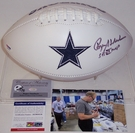 Roger Staubach - Autographed Dallas Cowboys Full Size Logo Football - PSA/DNA