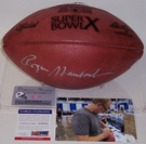 Roger Staubach - Autographed Official Wilson Leather Super Bowl 10 X NFL Football - PSA/DNA