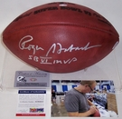 Roger Staubach - Autographed Official Wilson Leather Super Bowl 6 VI NFL Football - PSA/DNA