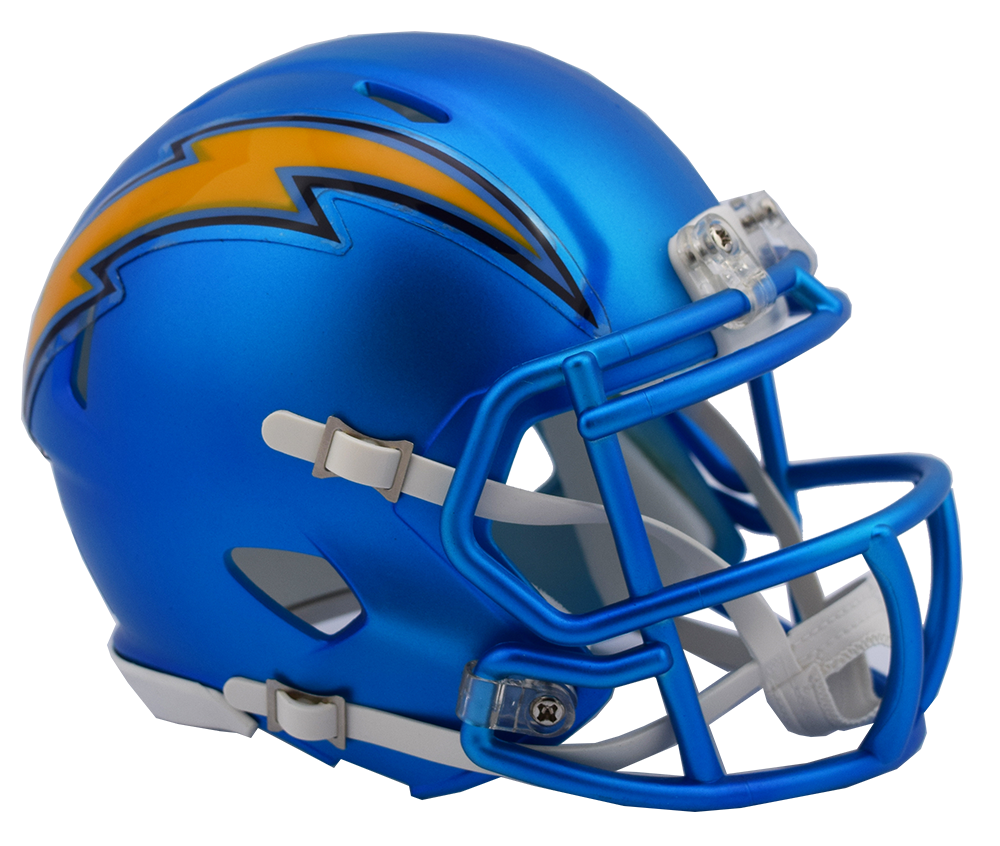San Diego Chargers Football Helmet: Blaze Alternate Speed Riddell Mini