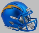 San Diego Chargers - Blaze Alternate Speed Riddell Mini Football Helmet