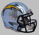 San Diego Chargers - Chrome Alternate Speed Riddell Full Size Authentic Proline Football Helmet