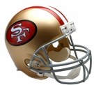 San Francisco 49ers 1964-1995 Throwback Riddell NFL Full Size Deluxe Replica Football Helmet