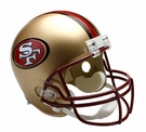 San Francisco 49ers 1996-2008 Throwback Riddell NFL Full Size Deluxe Replica Football Helmet