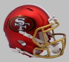 San Francisco 49ers - Blaze Alternate Speed Riddell Mini Football Helmet