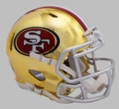 San Francisco 49ers - Chrome Alternate Speed Riddell Full Size Authentic Proline Football Helmet