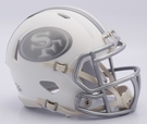 San Francisco 49ers - ICE alternate Speed Riddell Mini Football Helmet