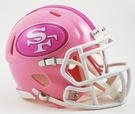 San Francisco 49ers Pink Speed Riddell Mini Football Helmet