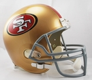 San Francisco 49ers Riddell NFL Full Size Deluxe Replica Football Helmet