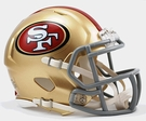 San Francisco 49ers Speed Revolution Riddell Mini Football Helmet