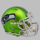 Seattle Seahawks - Blaze Alternate Speed Riddell Mini Football Helmet