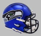 Seattle Seahawks - Chrome Alternate Speed Riddell Full Size Deluxe Replica Football Helmet