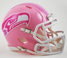 Seattle Seahawks Pink Speed Riddell Mini Football Helmet