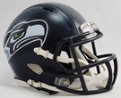 Seattle Seahawks Speed Revolution Riddell Mini Football Helmet