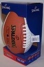 Spalding® Signature Series Full Size Football (3 white panels & 1 brown)
