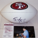 Steve Young - Autographed San Francisco 49ers Full Size Logo Football - JSA