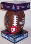 Super Bowl 52 LII Composite Leather Pee Wee Size Football