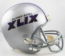 Super Bowl XLIX (49) - Riddell NFL Full Size Deluxe Replica Football Helmet