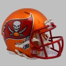Tampa Bay Bucs - Blaze Alternate Speed Riddell Mini Football Helmet