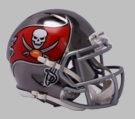 Tampa Bay Bucs - Chrome Alternate Speed Riddell Mini Football Helmet