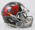 Tampa Bay Bucs Speed Revolution Riddell Mini Football Helmet