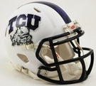 TCU Texas Christian University Frog Skin Speed Riddell Mini Football Helmet