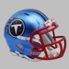 Tennessee Titans - Blaze Alternate Speed Riddell Mini Football Helmet