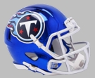 Tennessee Titans - Chrome Alternate Speed Riddell Full Size Deluxe Replica Football Helmet