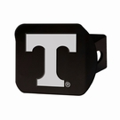 "Tennessee Volunteers NCAA 2"" Black Chrome Metal Tow Hitch Receiver Cover 3D"