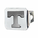 "Tennessee Volunteers NCAA 2"" Chrome Metal Tow Hitch Receiver Cover 3D"