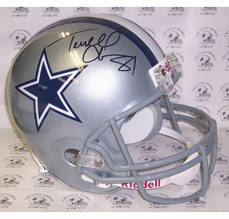 reputable site 4d2c3 1dffe Terrell Owens - Autographed Full Size Riddell Football ...