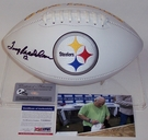Terry Bradshaw - Autographed Pittsburgh Steelers Full Size Logo Football - PSA/DNA