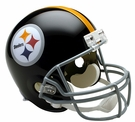 Terry Bradshaw - Autographed Pittsburgh Steelers Throwback Riddell Full Size Deluxe Football Helmet