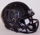 Texas A&M 2015 Night Black Matte Finish Speed Riddell Mini Football Helmet