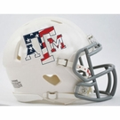 Texas A&M Stars and Stripes Speed Revolution Riddell Mini Football Helmet