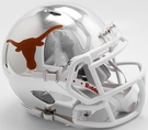 Texas Longhorns - Chrome Alternate Speed Riddell Mini Football Helmet