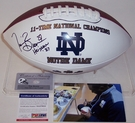 Tim Brown - Autographed Notre Dame Full Size Logo Football - PSA/DNA