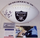 Tim Brown - Autographed Raiders Full Size Logo Football - PSA/DNA