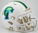 Tulane Speed Revolution Riddell Mini Football Helmet - White Matte Finish