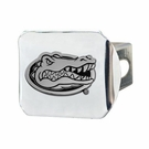 "Florida Gators NCAA 2"" Chrome Metal Tow Hitch Receiver Cover 3D"